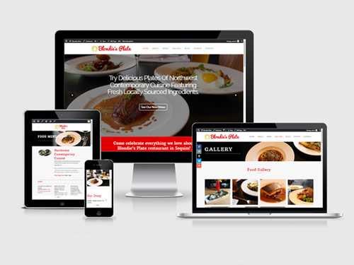 restaurant website design showcase
