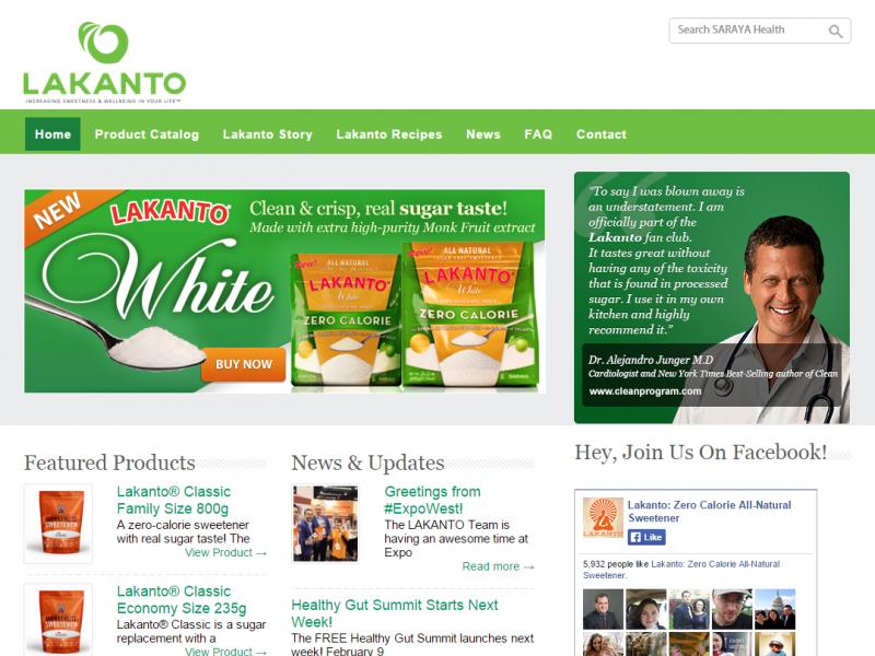 nutrition website redesign