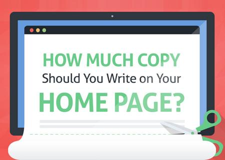 Marketing Tip: How Much Text to Include on Your Home Page (INFOGRAPHIC) 1