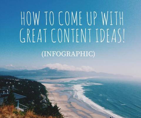 How to Come Up with Great Content Ideas INFOGRAPHIC 4