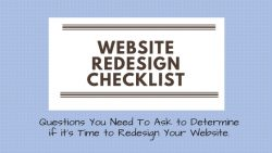 small business website redesign