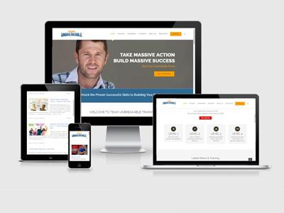 fitness gym website design