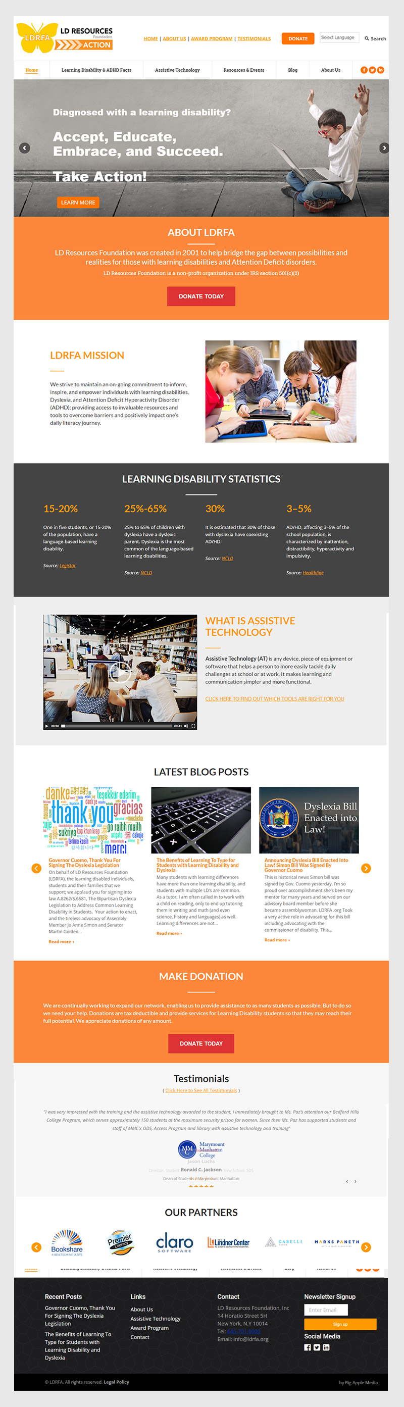 new non-profit website