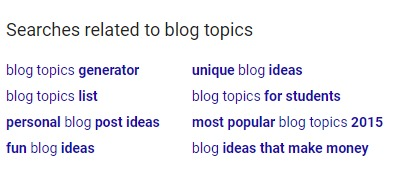 google related topic suggestions