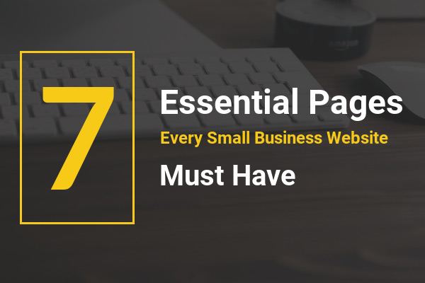 important page small business website