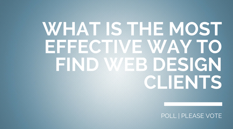 how to find design clients poll