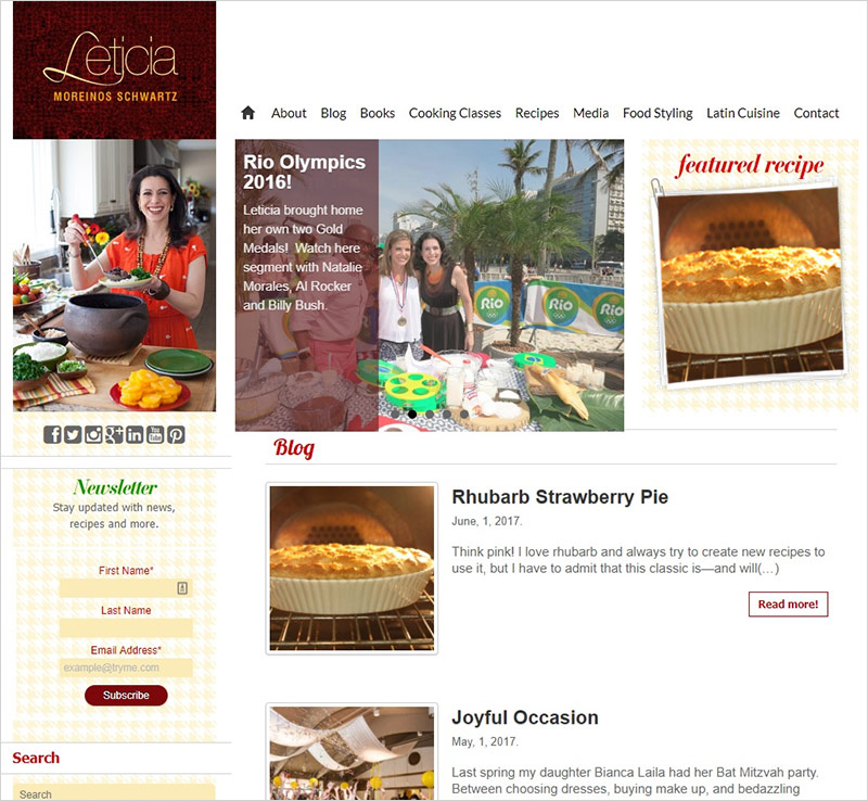 chef website design
