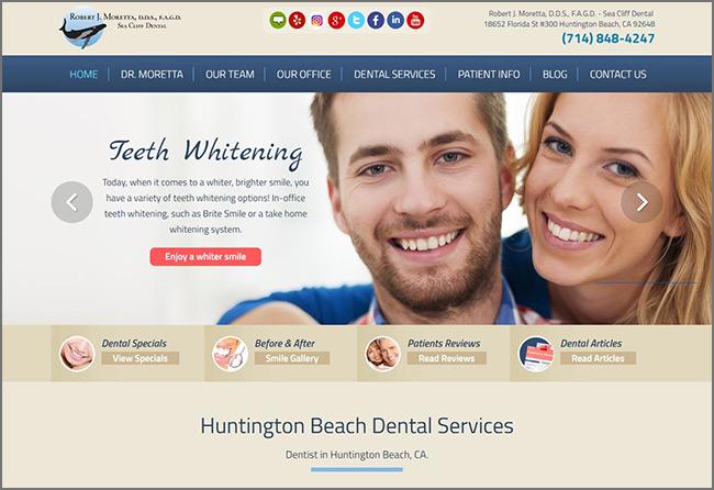 family dental website design