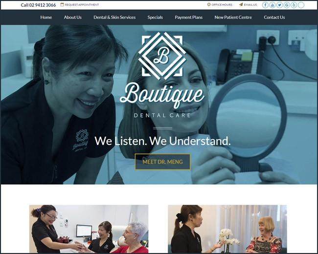 best dental website design