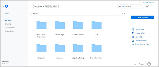dropbox file management