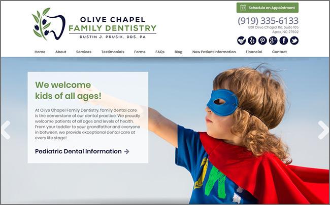 Olive chapel dentistry design