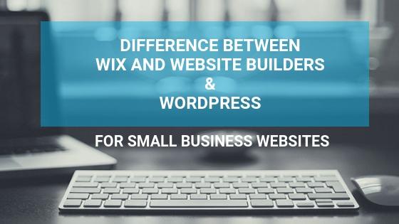 wix wordpress small business