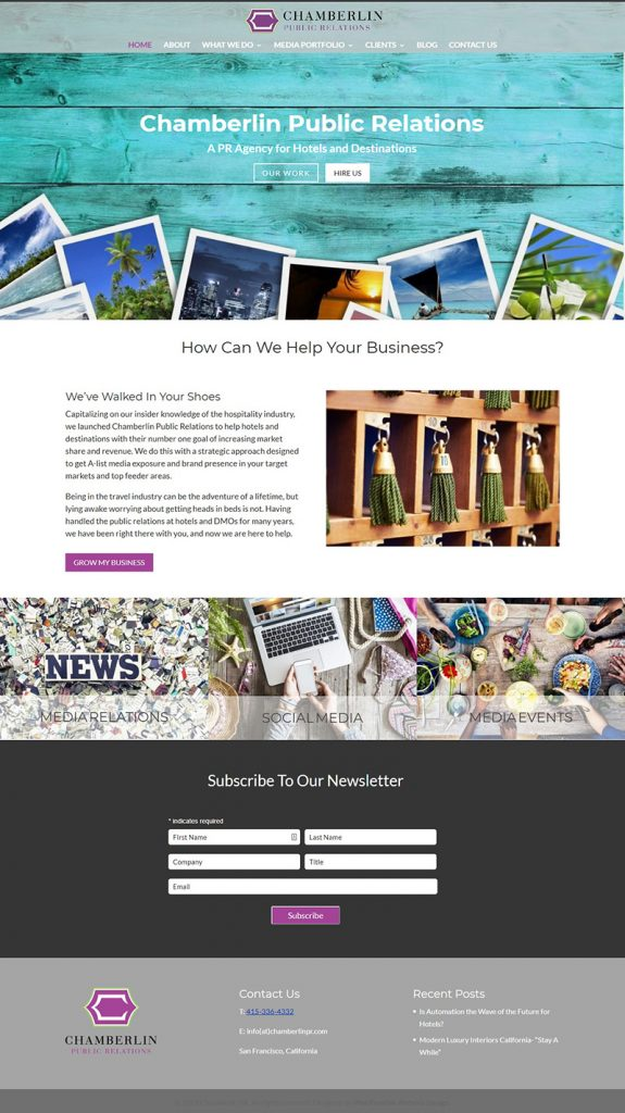 small business redesign case study