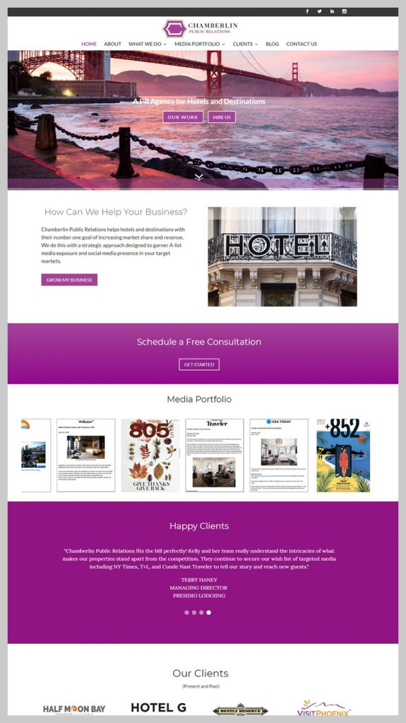 website redesign small business after