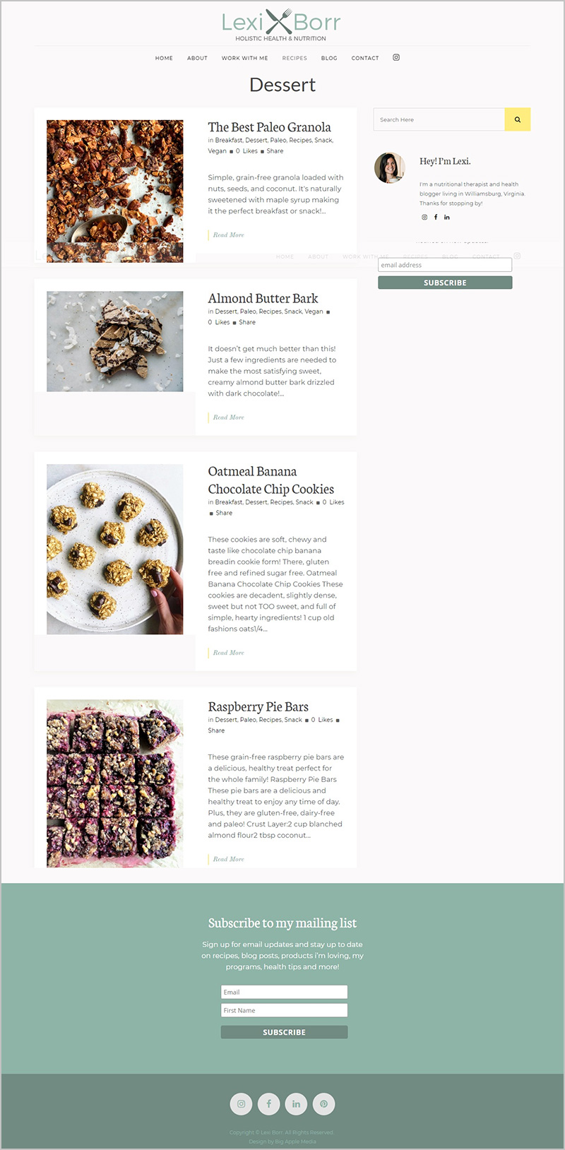 wellness blog redesign
