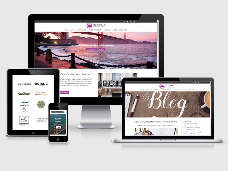 public relations travel website design