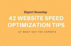 expert roundup website speed tips