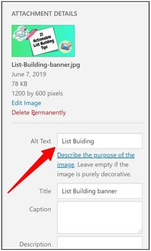 add alt tags to images for seo