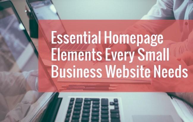 key homepage elements