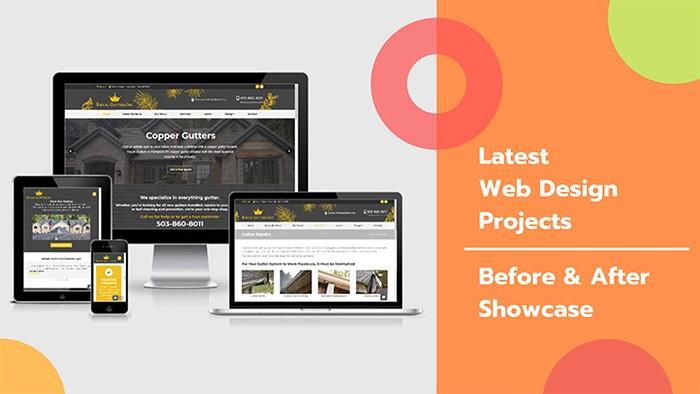 before after web design