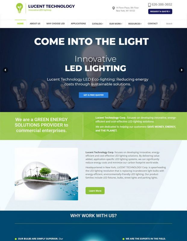 website redesign and development