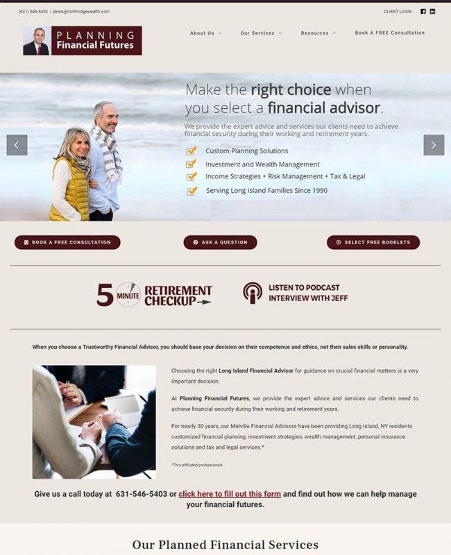 financial planning web development