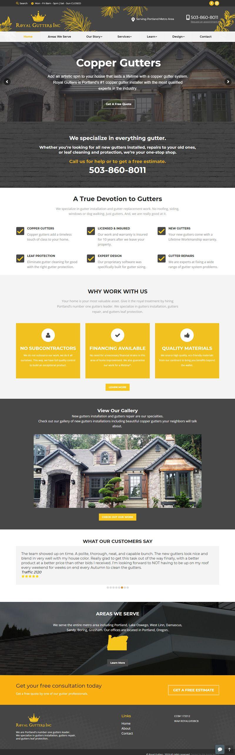 website development small business