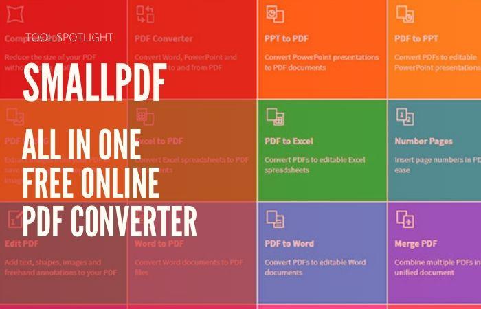 Tool Spotlight: Smallpdf. All in One Free Online PDF Converter. 1