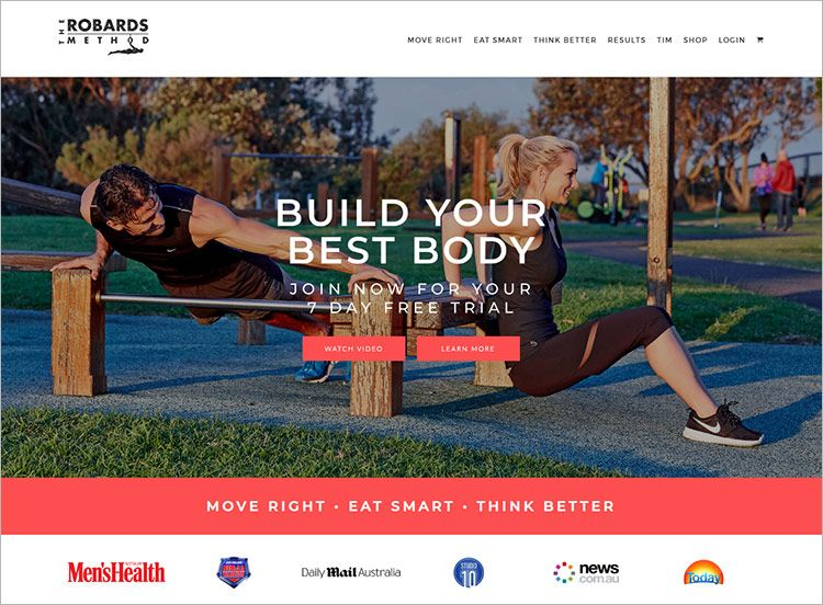 sports and fitness websites