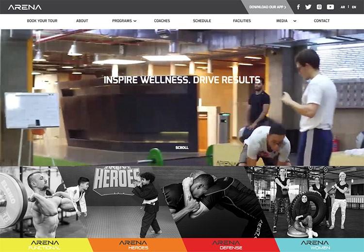 fitness website design