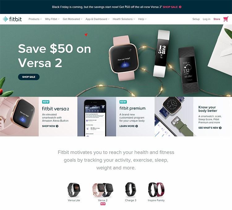 fitness shopping website design