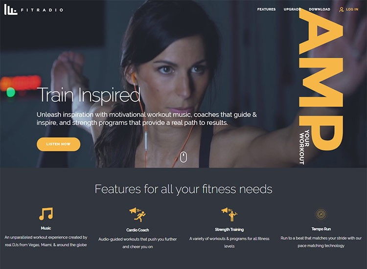 fitness and sports web design