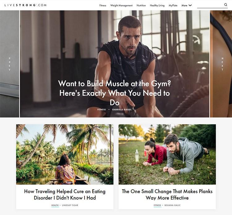 fitness sports website design