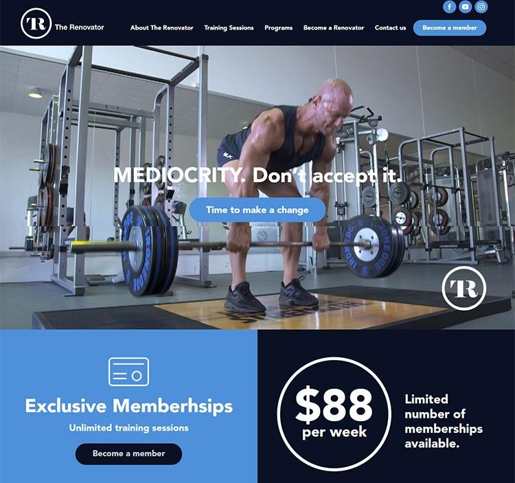 personal trainer website
