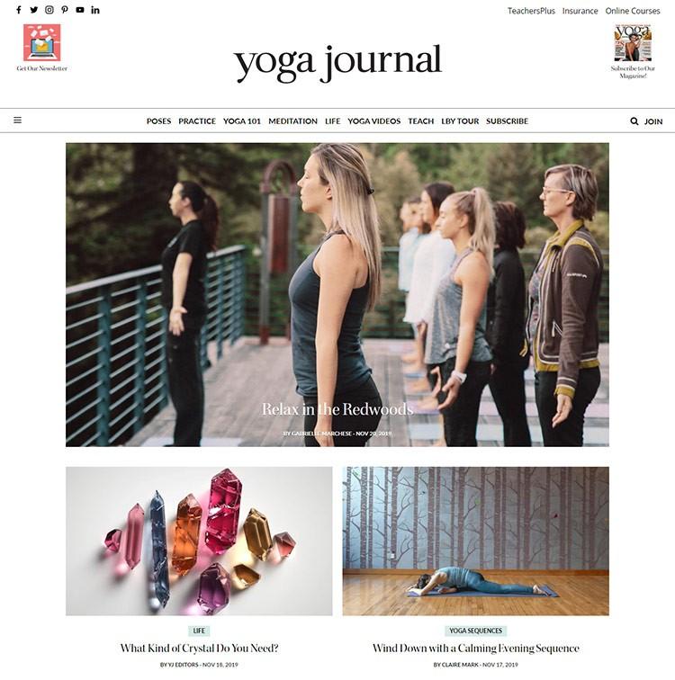 yoga website design examples