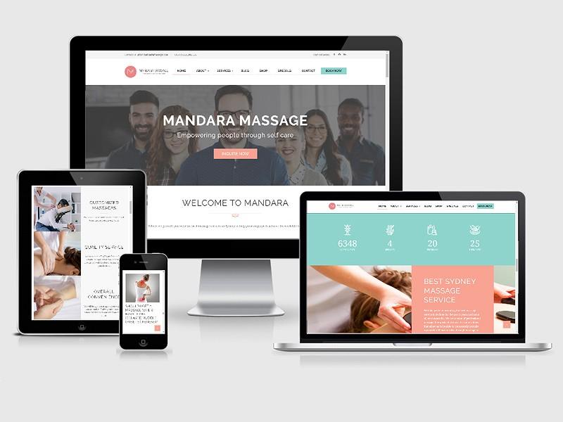 spa massage website redesign