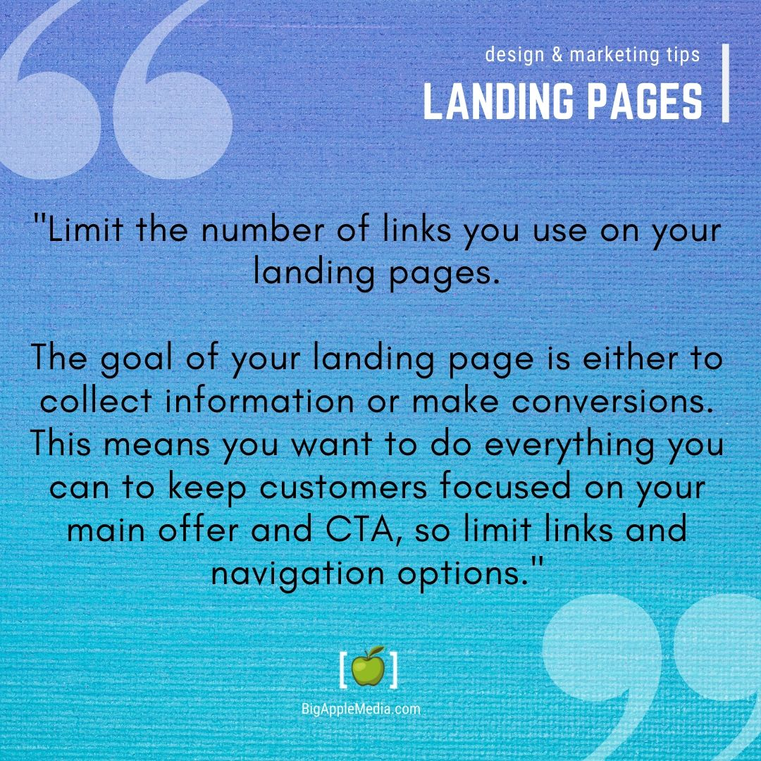 landing pages tips