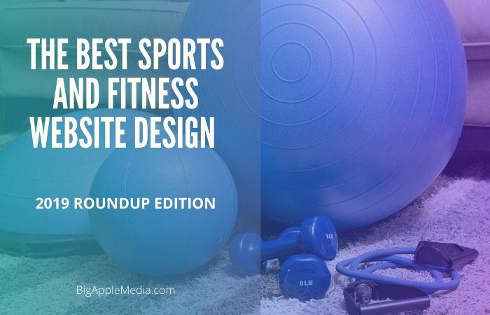 top fitness website design
