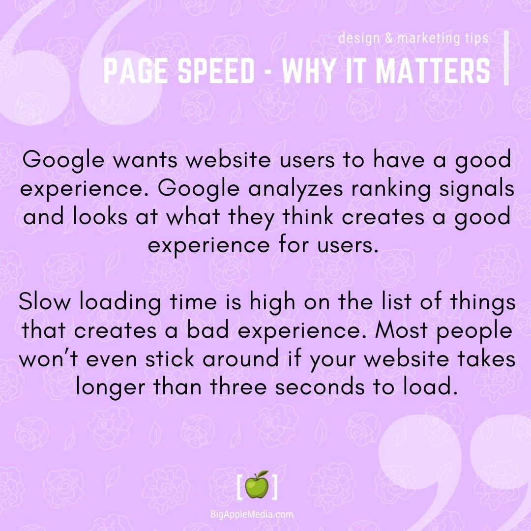 page speed matters