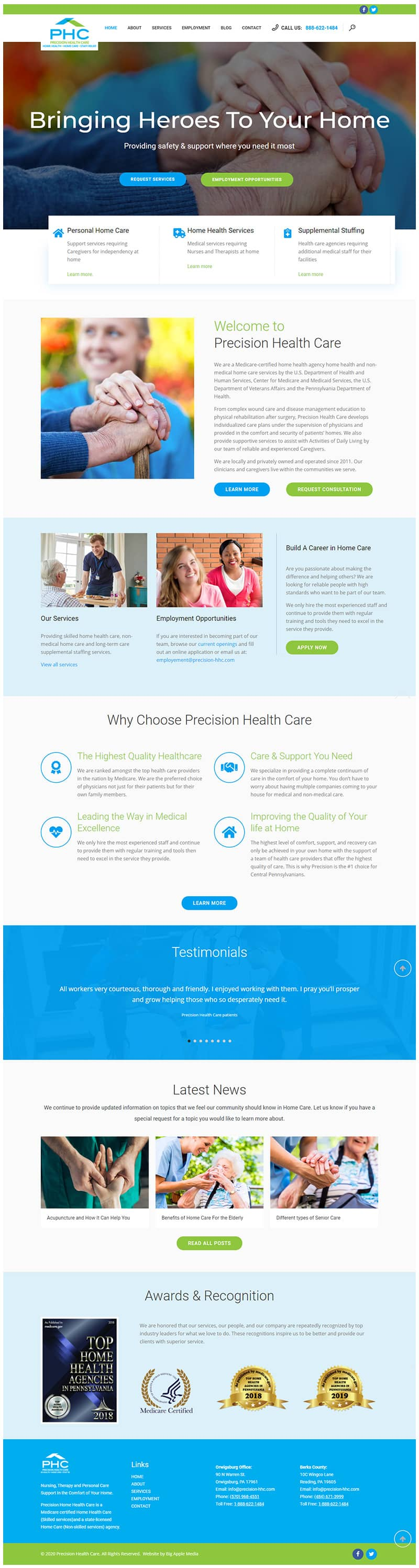 health and wellness web designs ervices