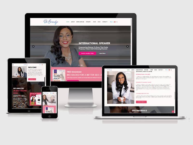 mobile wellness web design