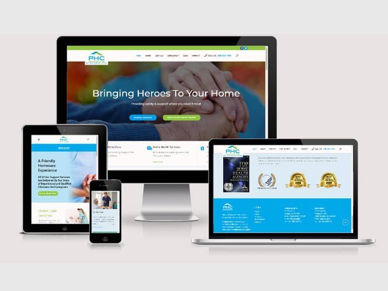 health website design services