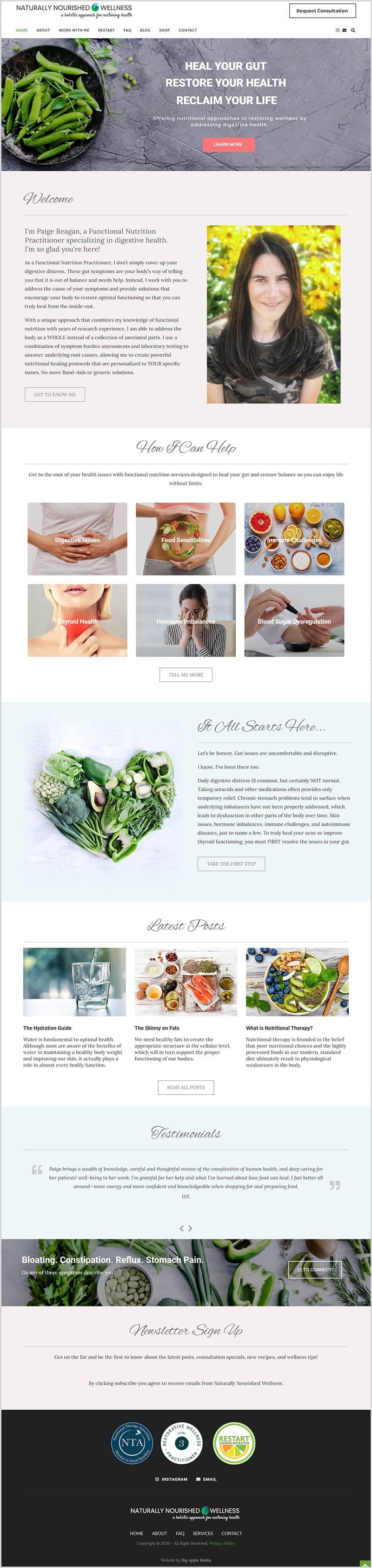 health website design and branding