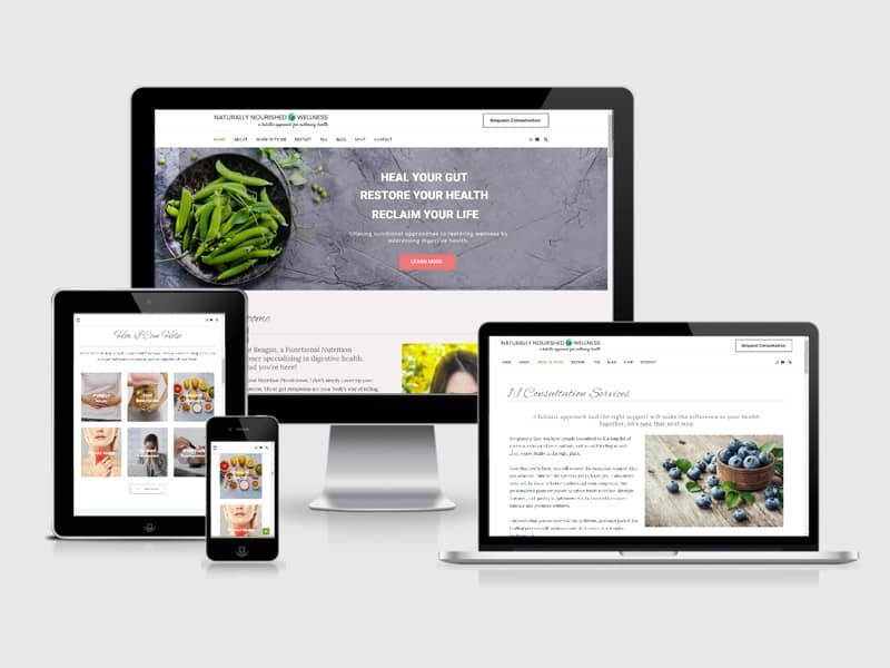 wellness website redesign
