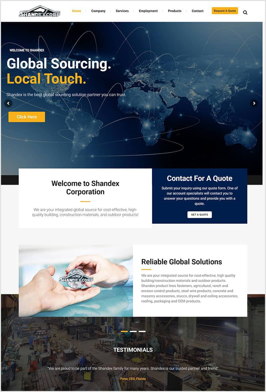 website redesing showcase