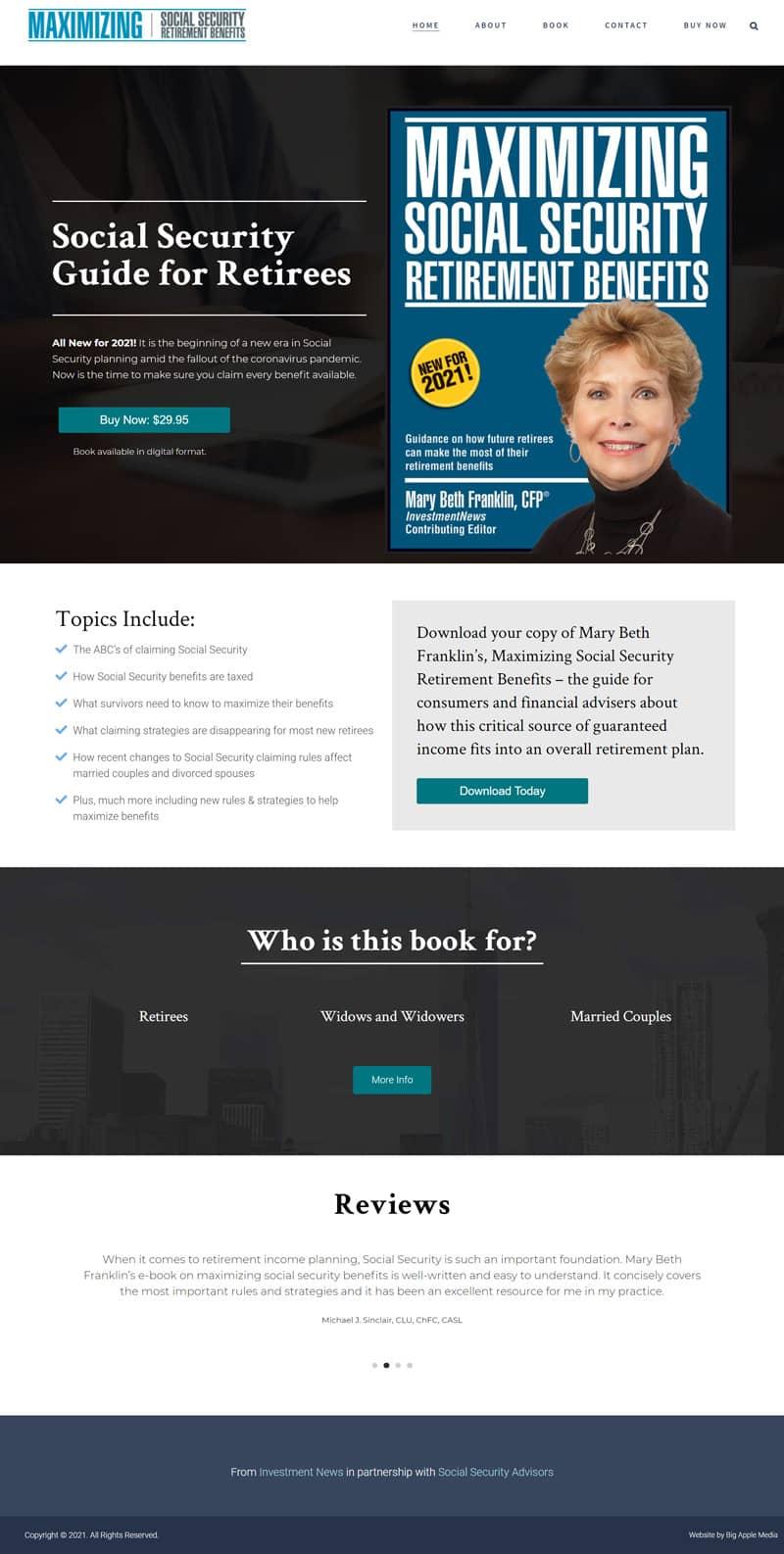 book website design