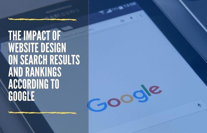 website design impact on seo