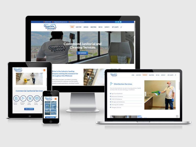 sparkle and shine website design