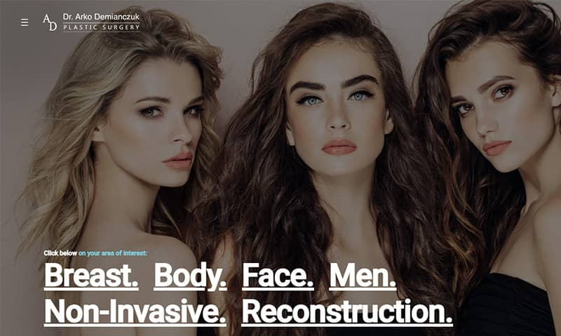 best plastic surgery websites
