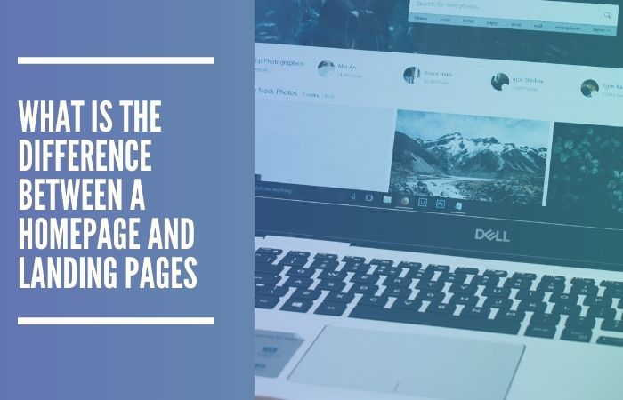 difference between landing page and homepage